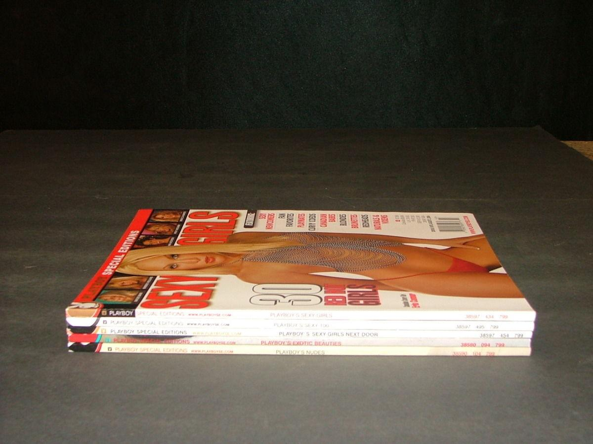 5 Playboy Specialty Iss Sexy Girls,Next Door,Sexy 100,Nudes,Exotic Beauty Softcover