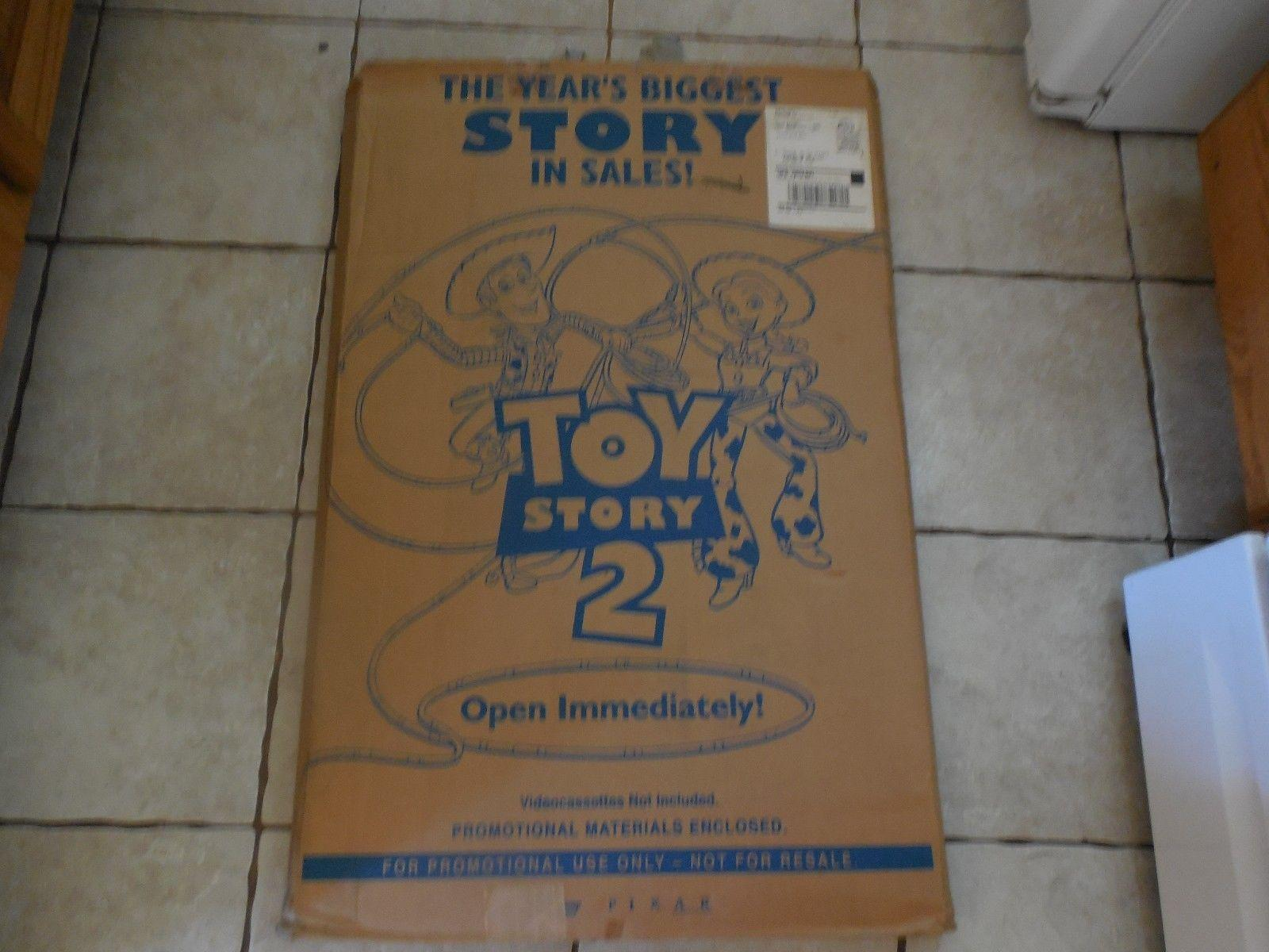 TOY STORY 2 Movie Promo Display-Standee-Poster-Pins- Window Decals