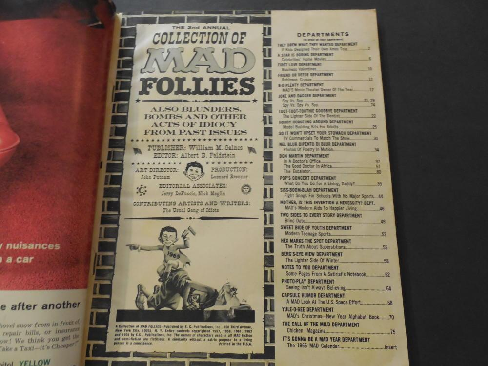 MAD Follies #2 1964 Silver Age Silliness From EC Comics With