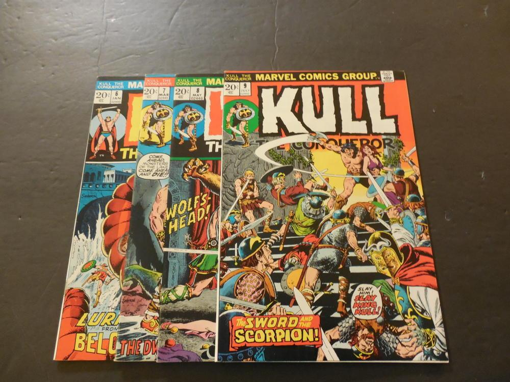 4 Iss Kull The Conqueror #6-9 Jan-Jul 1973 Bronze Age Marvel Comics