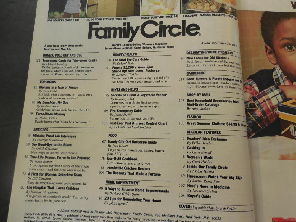 Family Circle May 18 1982 $2,200 A Week