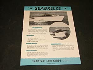 Vintage Sea Breeze Boat Brochure Sagstad Ship Yards