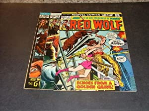 3 Iss Red Wolf #s 1, 6, 7 Uncirculated Bronze Age Marvel Comics Westerns