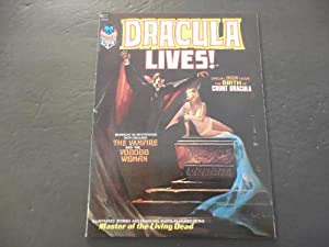 Dracula Lives! #2 1973 Bronze Age BW Marvel Magazine Living Dead