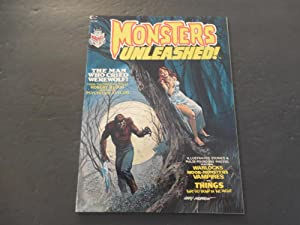 Monsters Unleashed! #1 1973 Bronze Age BW Marvel Mag Moor Monsters