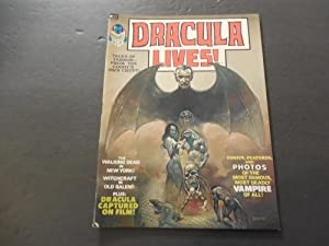 Dracula Lives! #1 1973 Bronze Age BW Marvel Magazine Drac On Film