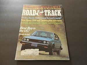 Road & Track Aug 1976 Lamborghini Silhouette;