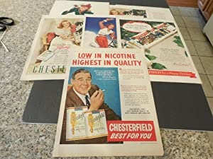 6 Vintage Chesterfield Cigarettes Ads Suitable For