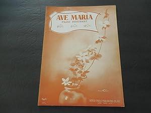 Ave Maria Franz Schubert 1940 Amsco Music: Amsco Music Publishing