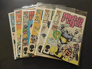 7 Issues Alpha Flight (1st Series) Numbers 36 - 42 Marvel Comics
