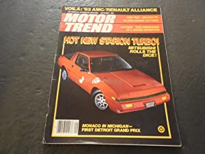 Motor Trend Sep 1982, Starion Turbo, -