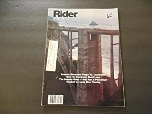 Rider Magazine Oct 1980 Vespa vs Lambretta