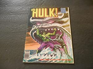 The Hulk #22 Aug 1980 Bronze Age Marvel Comics B And W Mag