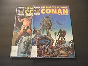 2 Iss Savage Sword Of Conan #115-116 Copper Age Marvel Magazine