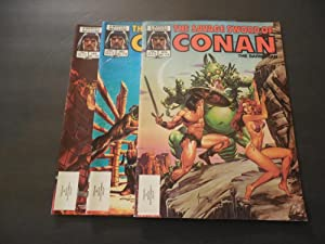 3 Iss Savage Sword Of Conan #118-120 Copper Age Marvel Magazine