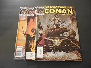 3 Iss Savage Sword Of Conan #127-129 Copper Age Marvel Magazine