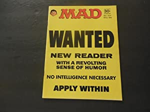 MAD #107 Dec 1966 Wanted: New Readers Silver Age Silliness EC Comics