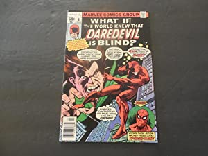 What If #8 Apr 1978 Bronze Age Marvel Comics World Knew Daredevil Was