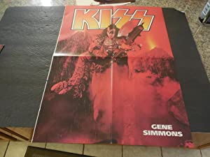 Vintage Kiss Gene Simmons Double Sided Poster