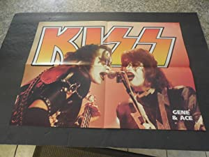 Vintage Kiss Ace Frehley Gene Simmons Double