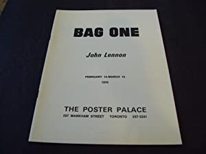 Bag One John Lennon Feb14-March 15 1970