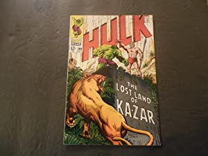 Incredible Hulk #109 Nov 1968 Silver Age Marvel Comics