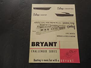 Bryant Boats Challenger Series Advertisement Unknown Date