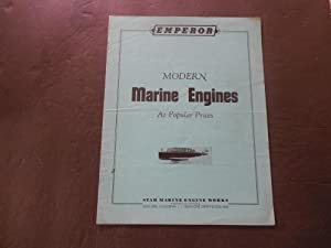 Emperor Modern Marine Engines Advertisement Star Marine Engine Works