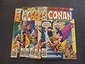7 Iss Conan The Barbarian #65,67-70,72,76 Marvel Comics Bronze Age