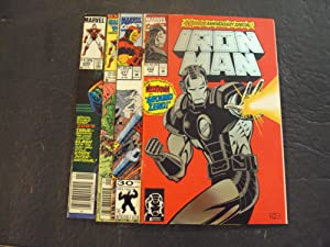 4 Iss Iron Man #200,214,277,288 Copper Age Marvel Comics