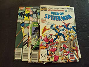 6 Iss Web Of Spider-Man #14,21,24,27,33 Annual #5 Copper Age Marvel Comics