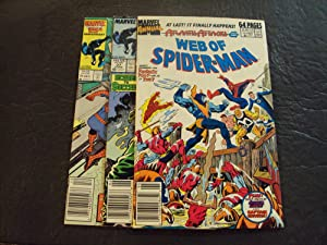 3 Iss Web Of Spider-Man #21,27, Annual #5 Copper Age Marvel Comics