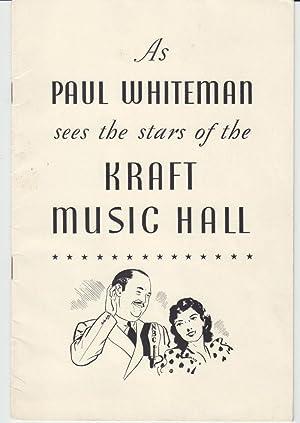 As Paul Whiteman Sees the Stars of: Whiteman, Paul