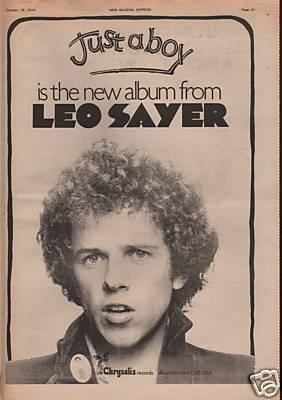 LEO SAYER Just A Boy Poster Size
