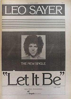LEO SAYER Let it be Poster size