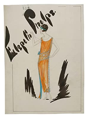 A Collection of Original Fashion Illustrations of Designs by the Couturier Elspeth Phelps.