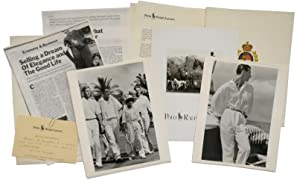 A Press Pack for the opening of the Polo Ralph Lauren store in Paris, containing press photograph...
