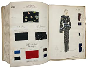A Swatch Album of Ladies' Fashion Fabrics by Maurice Briere, Paris. Hiver 1936-37.