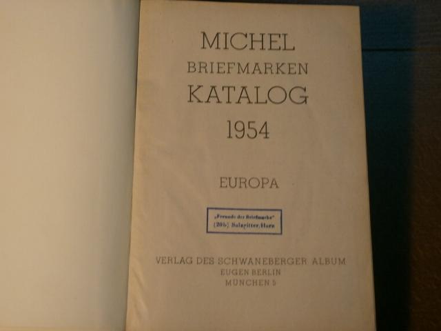 MICHEL BRIEFMARKEN KATALOG 1954.- Europa.: BRIEFMARKEN.-