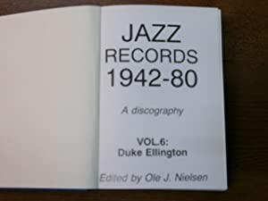 Jazz Records 1942 - 80. A discography.: ELLINGTON.- NIELSEN, Ole