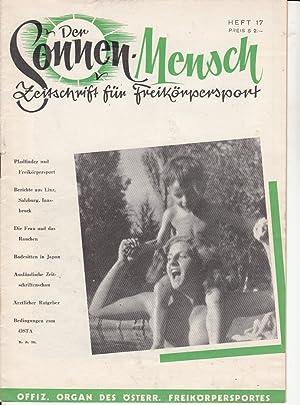 Heft 17. Zeitschrift für Freikörpersport. Offizielles Organ: FKK.- DER SONNENMENSCH.-