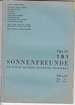 Heft 191. Offizielles Organ der deutschen Bundes: FKK.- SONNENFREUNDE.-