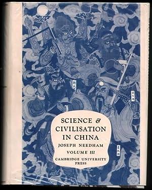 Science And Civilisation In China By Joseph: NEEDHAM, Joseph 1900-1995
