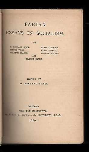 Fabian Essays in Socialism.: SHAW, G. Bernard.