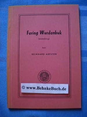 Fering wurdenbuk [weesdring].: Arfsten, Reinhard.