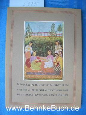 Indische Miniaturen : Aus dem Besitz der: Kühnel, Ernst.