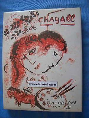 Chagall Lithograph 1962 - 1968 (Lithographe III).: Cain, Julien und
