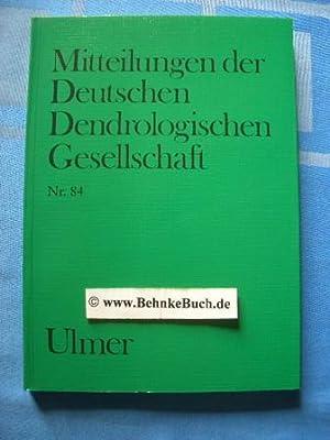Mitteilungen der deutschen dendrologischen Gesellschaft. Band 84: Hecker, U.