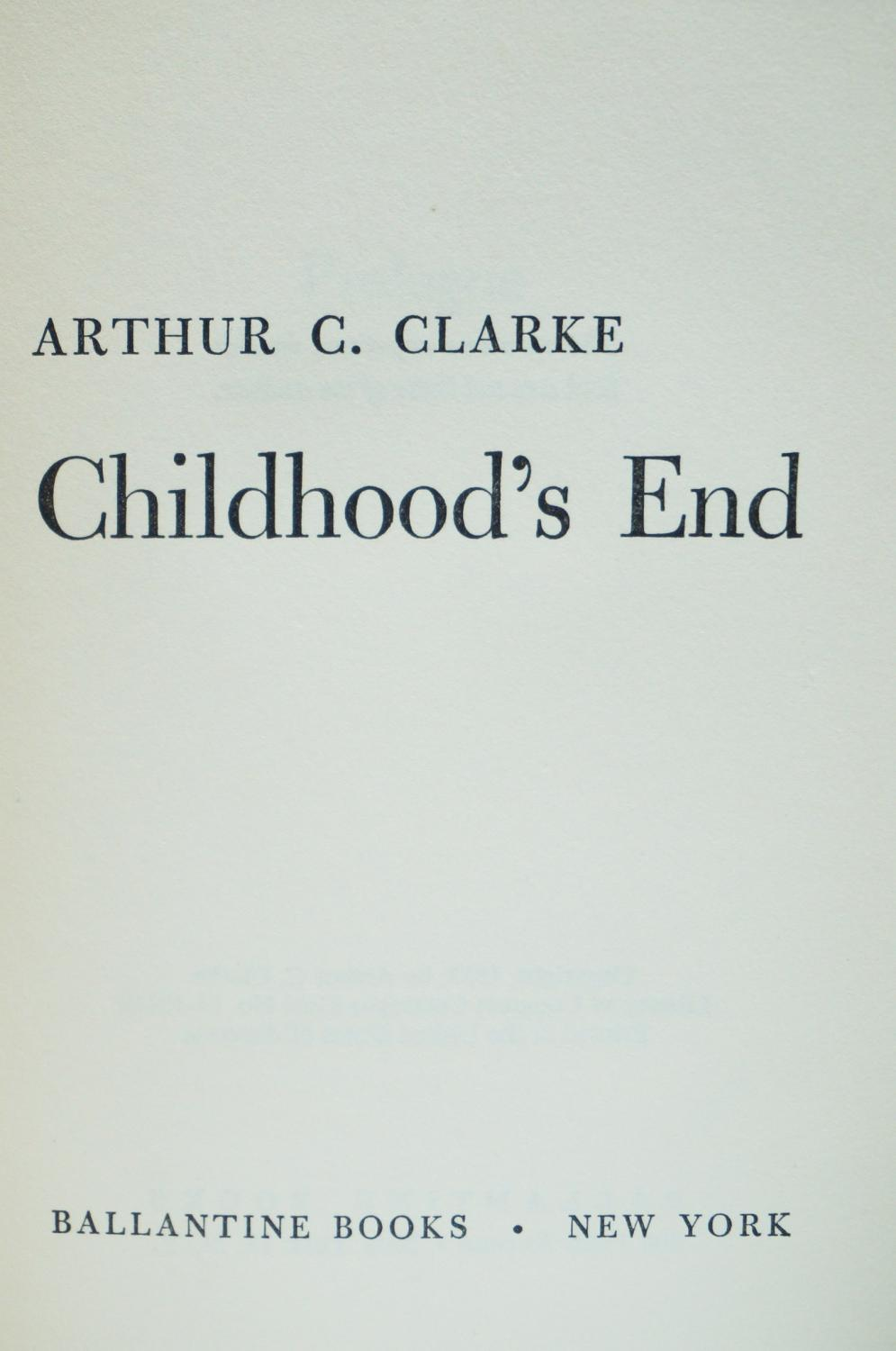 an analysis of the novel childhoods ends by arthur c clarke Dive deep into arthur c clarke's childhood's end with extended analysis, commentary, and discussion  childhood's end analysis arthur c clarke  the opening of the novel describes an arms .