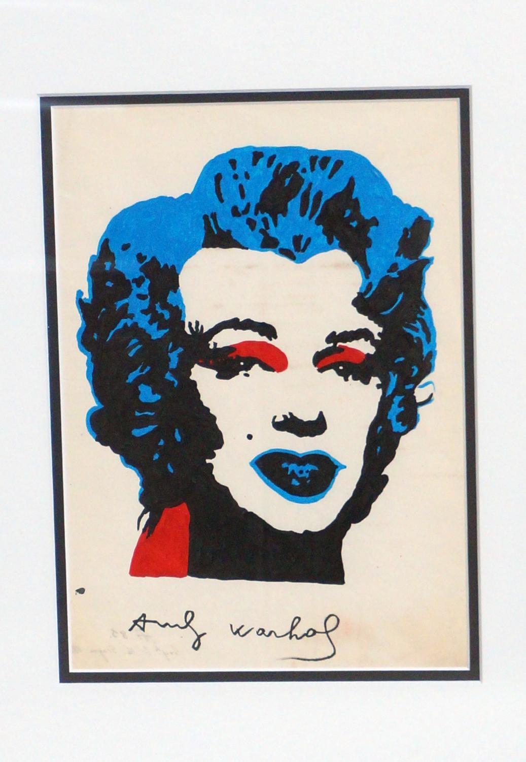 Signed Andy Warhol Painting
